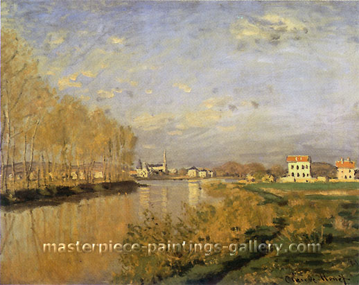 "Claude Monet, The Seine at Argenteuil | La Seine a Argenteuil (also known as ""Vanilla Sky""), 1873, oil on canvas, 19.9 x 24 in. / 50.5 x 61 cm, US$400"