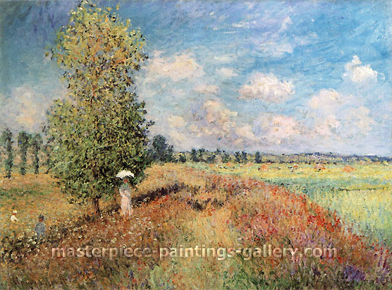 Claude Monet, Summer, Field of Poppies | L'Ete, Champ de Coquelicots (W 377), 1875, oil on canvas, 23.6 x 31.9 in. / 60 x 81 cm, US$450