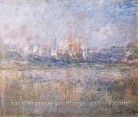 Claude Monet, Vetheuil in the Fog | Vetheuil dans le Brouilard, 1879, oil on canvas, 23.6 x 28 in. / 60 x 71 cm, US$290