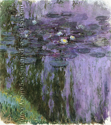 Claude Monet, Water Lilies, 1916, (W 1855) oil on canvas, 59.1 x 53.1 in. / 150 x 135 cm, US$700