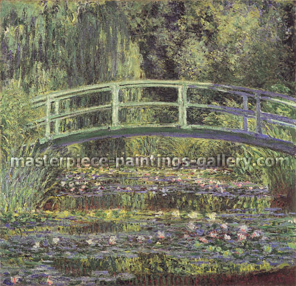 Claude Monet, The Water Lily Garden | The Water Lily Pond | Water Lilies and Japanese Bridge | Le Bassin aux Nypheas (W 1509), 1899, oil on canvas, 35.6 x 35.3 in. / 90.5 x 89.7 cm, US$550