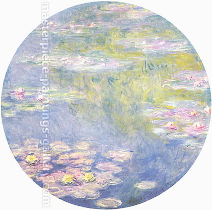 Claude Monet, Water Lilies, 1908, oil on canvas, 31.5 x 31.5 in. / 80 x 80 cm, US$480