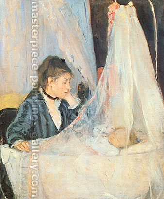 Berthe Morisot, The Cradle, 1872, oil on canvas, 22 x 18.1 in. / 56 x 46 cm, US$269