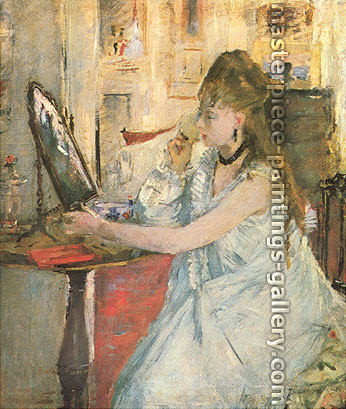 Berthe Morisot, Young Woman Powdering Herself, 1877, oil on canvas, 18 x 15.25 in. / 45.7 x 38.7 cm, US$320