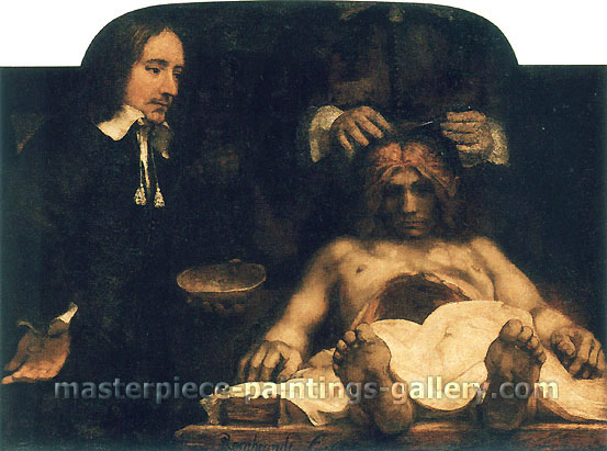 Rembrandt van Rijn, The Anatomy Lesson of Dr. Joan Deyman (Fragment), 1656, oil on canvas, 25.6 x 34.3 in. / 65 x 87.1 cm, US$340