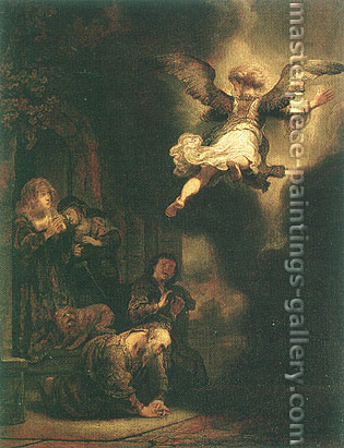 Rembrandt van Rijn, The Angel Leaving Tobias and His Family, 1637, oil on canvas, 26 x 20.5 in. / 66 x 52 cm, US$450