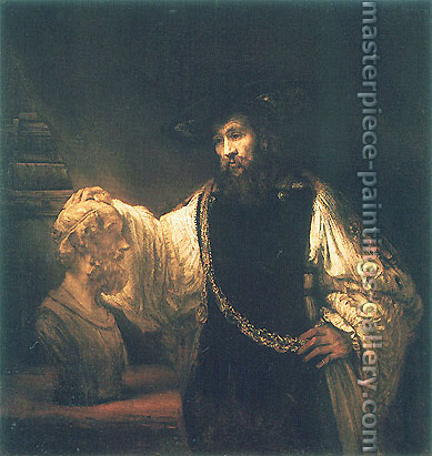 Rembrandt van Rijn, Aristotle Contemplating a Bust of Homer, 1653, oil on canvas, 56.5 x 53.7 in. / 143.5 x 136.5 cm, US$560