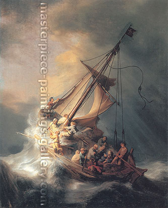 Rembrandt van Rijn, Christ in Storm on Lake of Galilee, 1633, oil on canvas, 32 x 25.6 in / 81.3 x 65 cm, US$1280