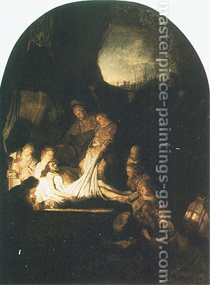Rembrandt van Rijn, The Entombment of Christ, 1636-39, oil on canvas, 36.5 x 27.1 in. / 92.6 x 68.9 cm, US$370