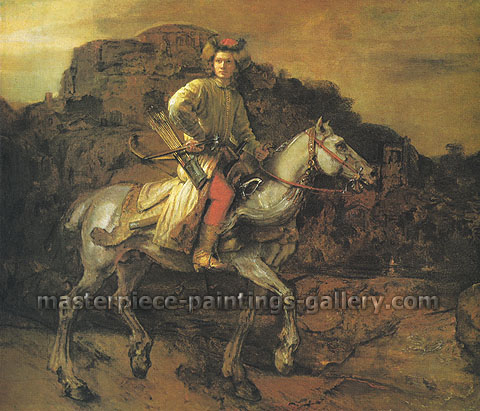 Rembrandt van Rijn, The so-called 'Polish Rider',1655, oil on canvas, 46 x 53.1 in. / 116.8 x 134.9 cm, US$675