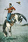 Frederic Remington, Bronco Buster, 1890, oil on canvas, 22 x 32.5 in. / 56 x 82.6 cm, US$320