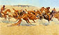 Frederic Remington, Indian Warfare, 1908, oil on canvas, 29.5 x 50 in. / 74.9 x 127 cm,US$640.