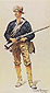 Frederic Remington, Infantry Soldier, 1901, oil on canvas, 29 x 15.8 in. / 73.7 x 40.4 cm, US$280.