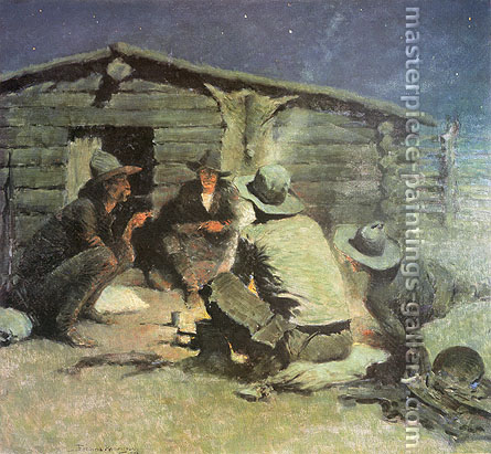 Frederic Remington, Last Painting, Unfinished, 1909, oil on canvas, 27 x 30 in. / 68.6 x 76.2 cm, US$310