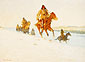 Frederic Remington, The Snow Trail, 1908, oil on canvas, 27 x 40 in. / 68.6 x 101.6 cm, US$390