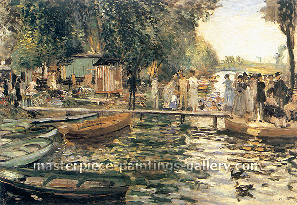 Pierre-Auguste Renoir, La Grenouillere, 1869, oil on canvas, 25.6 x 36.2 in. / 65 x 92 cm, US$350