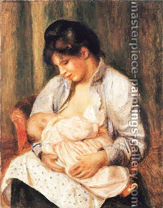 Pierre-Auguste Renoir, Mother and Child | Mere et enfant, 1893, oil on canvas, 24.5 x 19.3 in. / 62.2 x 49.1 cm, US$320