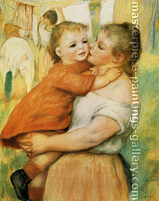 Pierre Auguste Renoir, Madame Renoir with Child, 1886, oil on canvas, 28.1 x 22.5 in. / 71.3 x 57 cm, US$320