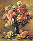 Pierre-Auguste Renoir, Roses in a Vase | Les Roses dans un vase, 1910, oil on canvas, 24.3 x 20 in. / 61.5 x 50.7 cm, US$320