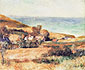 Pierre-Auguste Renoir, View of the Coast near Wargermont, 1880, oil on canvas, 19.9 x 24.5 in. / 50.5 x 62.2 cm, US$260