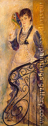 Pierre-Auguste Renoir, Woman on a Stair, 1876, oil on canvas, 65.9 x 25.7 in. / 167.5 x 65.3 cm, US$460