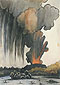 Diego Rivera, Erupting Volcano | Volcan en erupcion, 1943, oil on canvas, 32 x 22.5 in. / 81.3 x 57.3 cm, US$300