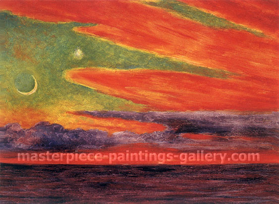 Evening Twilight at Acapulco, 1956, oil on canvas, 18 x 24 in / 45.7 x 61 cm, US$330