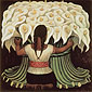 Diego Rivera, Flower Seller, 1942, oil on canvas, 48 x 48 in. / 122 x 122 cm, US$490.