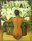 Nude with Calla Lilies, 1944, oil on canvas, 32 x 25.3 in / 81.3 x 64.3 cm, US$290