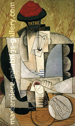 Diego Rivera, Sailor Breakfast, 1914, oil on canvas, 36 x 22.2 in / 91.4 x 56.3 cm, US$300