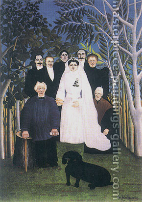 Henri Rousseau, A Country Wedding | Une noce a la campagne, 1904-1905, oil on canvas, 32 x 22.4 in. / 81.3 x 56.8 cm, US$570