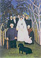 Henri Rousseau, A Country Wedding | Une noce a la campagne, 1904-1905, oil on canvas, 32 x 22.4 in. / 81.3 x 56.8 cm, US$290