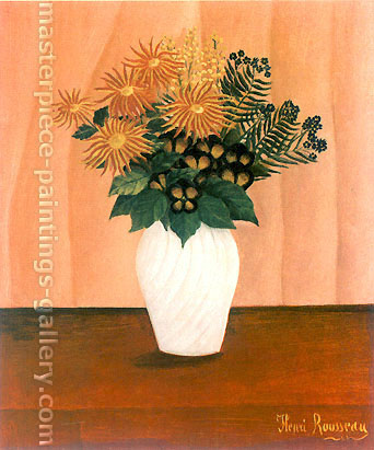 Henri Rousseau, Flowers | fleurs, 1895-1900, oil on canvas, 32 x 26 in. / 81.3 x 66.9 cm, US$450