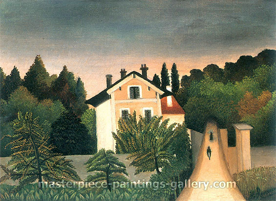 Henri Rousseau, The House on the Outskirts of Paris, 1905, oil on canvas, 22.7 x 32 in. / 57.7 x 81.3 cm, US$430