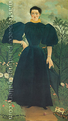Henri Rousseau, Portrait of a Woman | Portrait de femme, 1895, oil on canvas, 32 x 23.3 in. / 81.3 x 59.2 cm, US$490