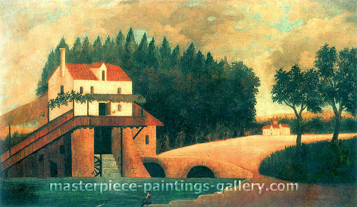 Henri Rousseau, The Watermill, 1896, oil on canvas, 19.2 x 32 in. / 48.9 x 81.3 cm, US$560