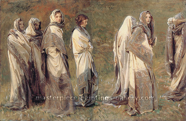 John Singer Sargent, Cashmere, 1908, oil on canvas, 28 x 43 in. / 71.7 x 109.2 cm, US$600