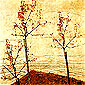 Egon Schiele, Autumn Trees, 1911, oil on canvas, 32 x 32 in. / 81.3 x 81.3 cm, US$320