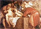 Titian | Tiziano Vecellio, Entombment, 1559, oil on canvas, 23.5 x 32.5 in. / 59.7 x 82.5 cm, US$330