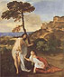Titian | Tiziano Vecellio, Noli Me Tangere, 1508, oil on canvas, 43 x 35.8 in. / 109.2 x 90.9 cm, US$490