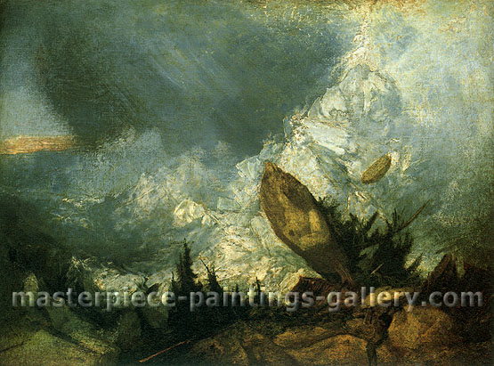 JMW Turner, The Fall of an Avalanche in the Grisons, 1810, oil on canvas, 27 x 36 in / 68.6 x 91.4 cm, US$320
