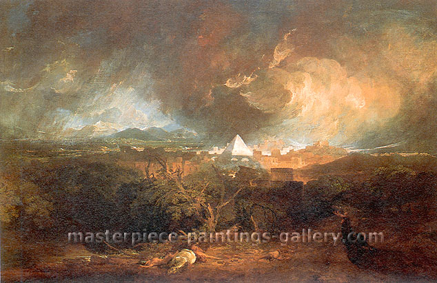 JMW Turner, The Fifth Plague of Egypt, 1800, oil on canvas, 39.4 x 58.1 in. / 100 x 147.6 cm, US$620