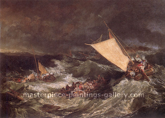 JMW Turner, The Shipwreck, 1805, oil on canvas, 40.3 x 57 in. / 102.3 x 144.9 cm, US$610