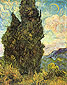 Vincent van Gogh, Two Cypresses, 1889, oil on canvas, 36.7 x 29.1 in. / 93.3 x 74 cm, US$330