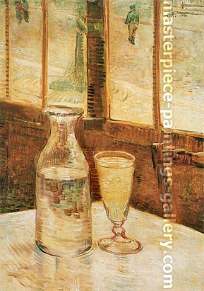 Vincent van Gogh, Still Life with Absinthe, 1887, oil on canvas, 18.3 x 13 in. / 46.5 x 33 cm, US$300
