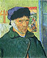 Vincent van Gogh, Self-portrait with Bandaged Ear, 1889 (JH 1657), oil on canvas, 23.6 x 19.3 in. / 60 x 49 cm, US$250