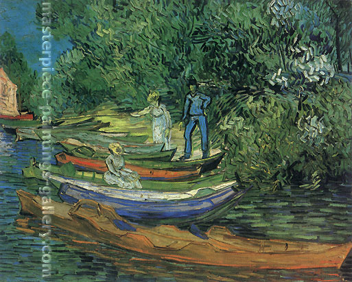 Vincent van Gogh, Bank of the Oise at Auvers, 1890, oil on canvas, 28.9 x 36.9 in. /  73.5 x 93.7 cm, US$560