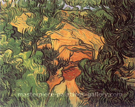 Vincent van Gogh, Entrance to a Quarry, 1889, oil on canvas, 23.6 x 28.8 in. / 60 x 73.5 cm, US$310