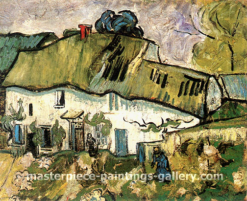Vincent van Gogh, Farmhouse with Two Figures, 1890, oil on canvas, 22.4 x 26.6 in. / 57 x 67.5 cm, US$320