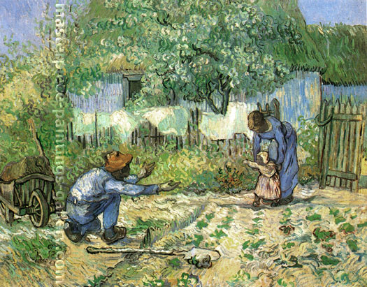 Vincent van Gogh, First Steps, 1890, oil on canvas, 28.5 x 35.9 in. / 72.4 x 91.2 cm, US$340